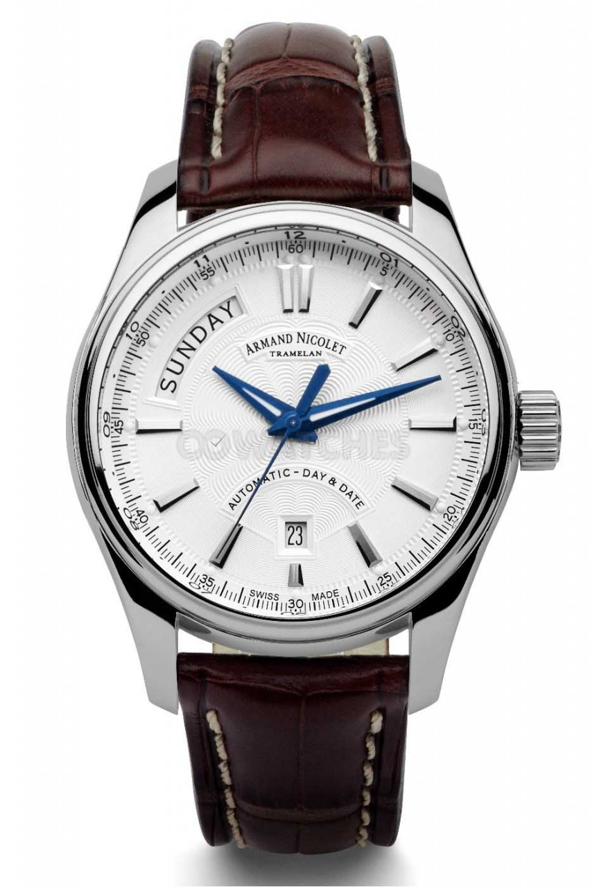 Armand nicolet m02 day date 9641aagbp974mr2 gents watch for Armand nicolet watches