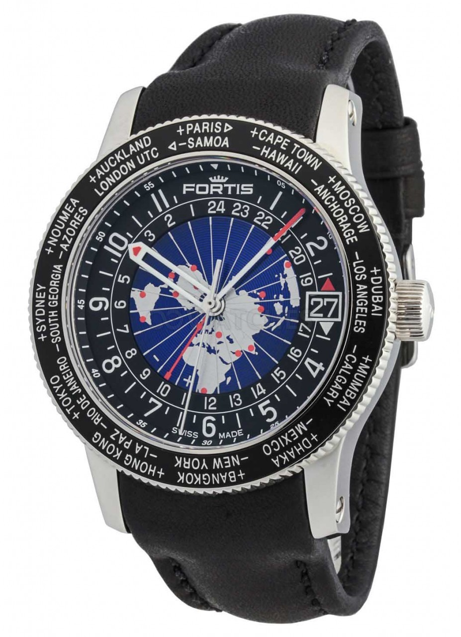 Fortis B47 World Timer Gmt Automatic 674 21 11 L 01