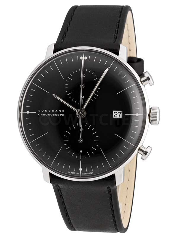 junghans max bill chronoscope gents watch. Black Bedroom Furniture Sets. Home Design Ideas