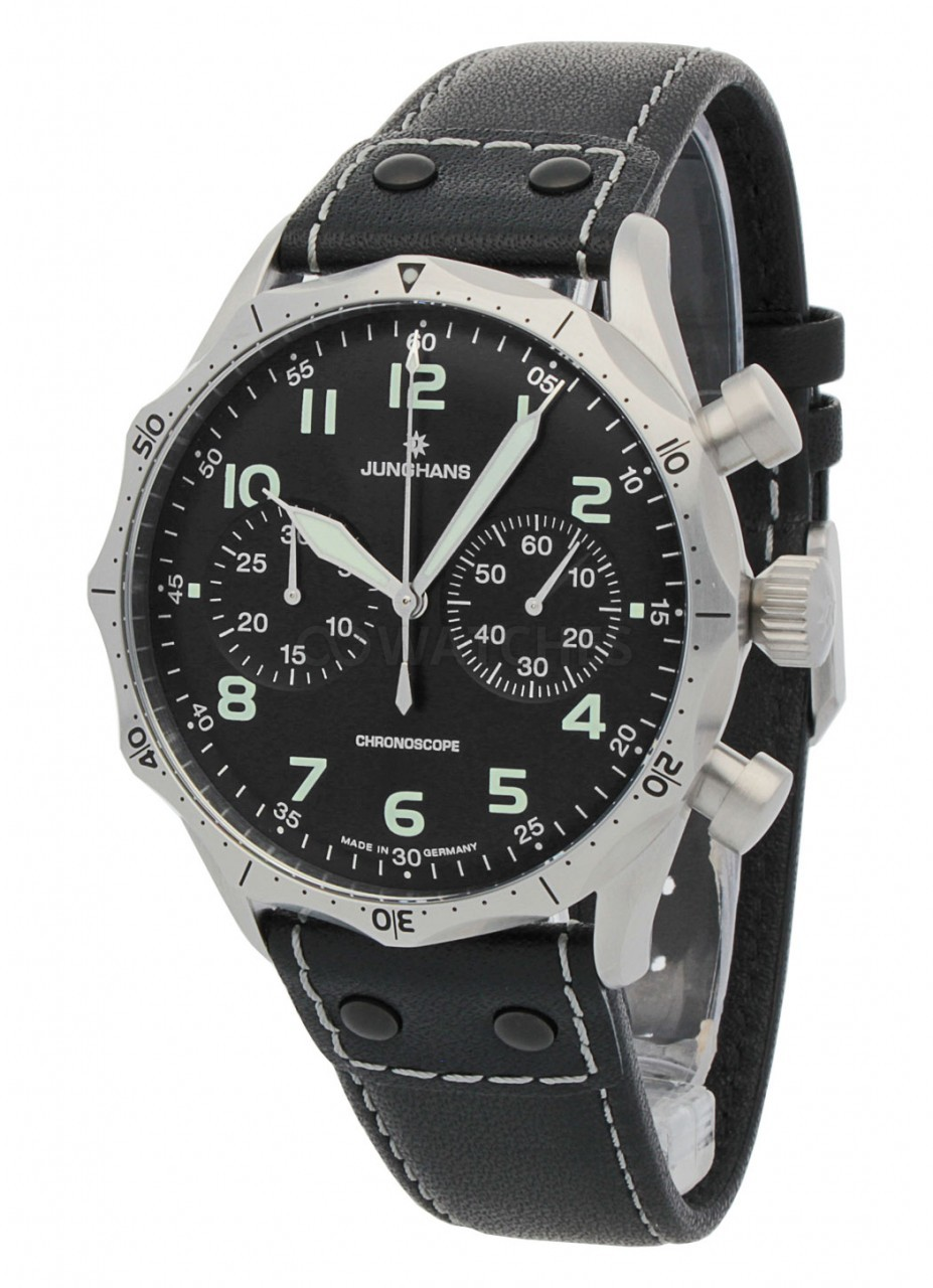 Junghans Meister Pilot Chronoscope 0273590 00 Gents Watch