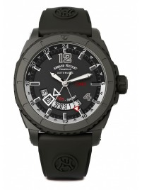 Armand Nicolet S05 GMT BLACK D.L.C. 300M Automatic A713AQNGRGG4710N watch image
