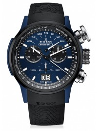 Image of Edox Chronorally Chronograph Big Date 38001 TINBU1 BUIB1 watch