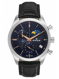 Edox Les Vauberts Chronograph Mondphase Date Quarz 01655 3 BUIR watch image