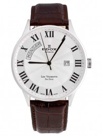 Edox Les Vauberts Day Date Automatic 83010 3B AR watch image