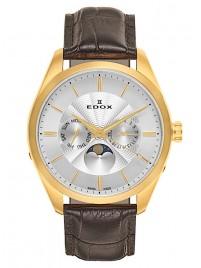 Edox Les Vauberts DayDate Mondphase 40008 37J AID watch image