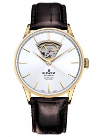 Edox Les Vauberts Open Heart Automatic 85010 37J AID watch image