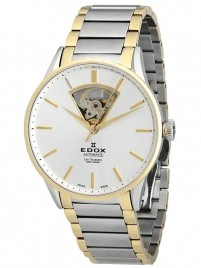 Edox Les Vauberts Open Heart Automatic 85011 357J AID watch image