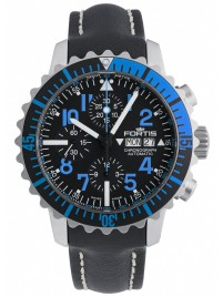 Fortis Aquatis Marinemaster Chronograph Blue 671.15.45 L.01 watch image