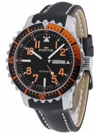 Fortis Aquatis Marinemaster DayDate Orange 670.19.49 L.01 watch image