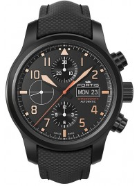 Fortis Aviatis Aeromaster Stealth Chronograph 656.18.18 LP watch image