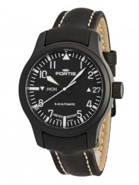 Fortis B42 Flieger Black Automatic DayDate Limited Edition 655.18.91 L.01 watch image