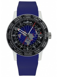 Fortis B47 World Timer GMT 674.21.11 Si.05 watch image