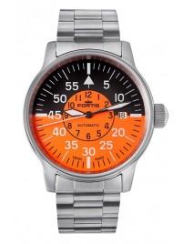 Fortis Flieger Cockpit Orange Date 595.11.13 M watch image