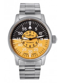 Fortis Flieger Cockpit Yellow Date 595.11.14 M watch image