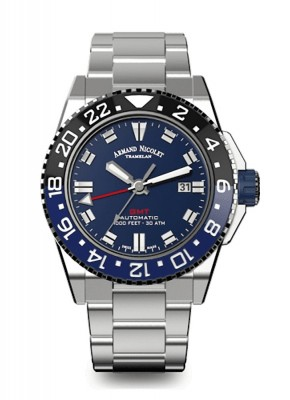 Armand Nicolet JS9 GMT Date Automatic A486AGUBUMA4480AA watch picture