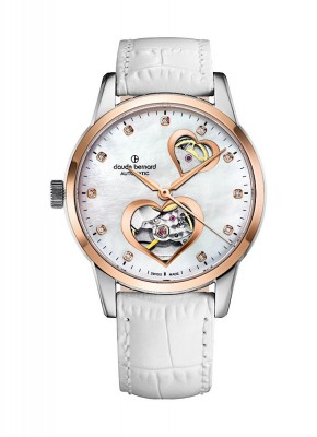 Claude Bernard Classic Open Heart Automatic 85018 357R NAPR2 watch picture