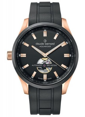 Claude Bernard Sporting Soul Aquarider Automatic Open Heart 85026 37RNCA NIR watch picture