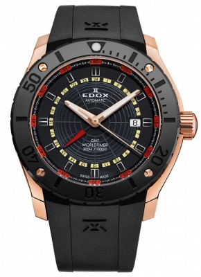 Edox Chronoffshore 1 GMT Worldtimer Automatic 93005 37R NOJ watch picture