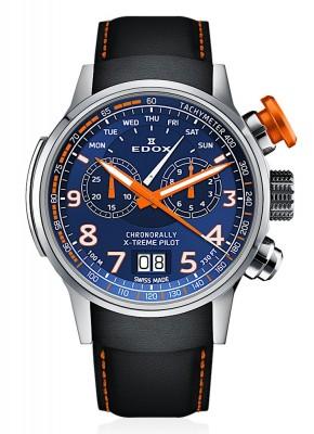 Edox Chronorally Xtreme Pilot Grossdatum Wochentag Chronograph Quarz 38001 TINO BUO3 watch picture