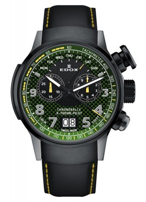 Edox Chronorally Xtreme Pilot Limited Edition Chronograph Quarz 38001 TINGN V3 watch picture