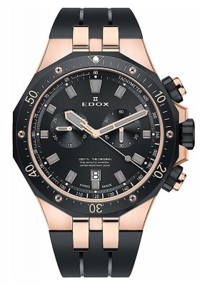 Edox Delfin Chronograph Date Quarz 10109 357RNCA NIRG watch picture