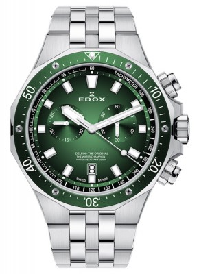 Edox Delfin Chronograph Date Quarz 10109 3VM VIN watch picture