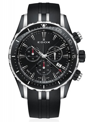 Edox Grand Ocean Chronograph Date Quarz 10248 357N NIN watch picture