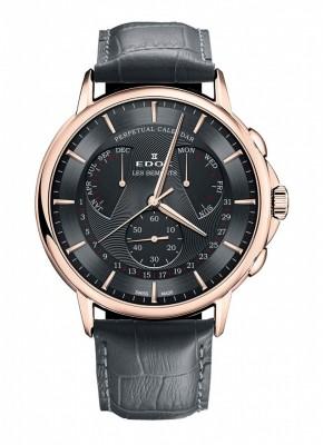 Edox Les Bemonts Perpetual Calendar 01602 37R GIR watch picture