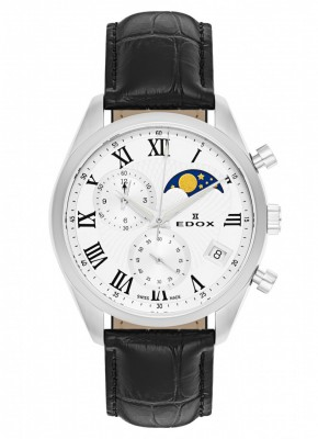 Edox Les Vauberts Chronograph Mondphase Date Quarz 01655 3 ARN watch picture