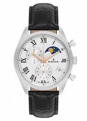 Edox Les Vauberts Chronograph Mondphase Date Quarz 01655 3 ARR watch picture