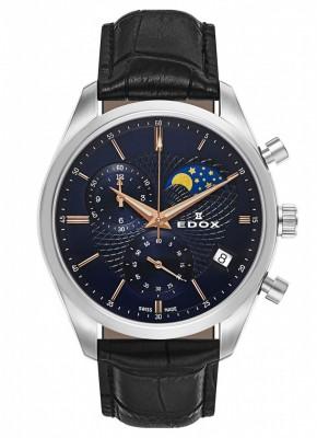 Edox Les Vauberts Chronograph Mondphase Date Quarz 01655 3 BUIR watch picture
