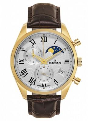 Edox Les Vauberts Chronograph Mondphase Date Quarz 01655 37J ARD watch picture