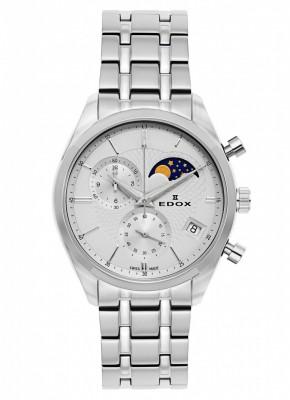 Edox Les Vauberts Chronograph Mondphase Date Quarz 01655 3M AIN watch picture