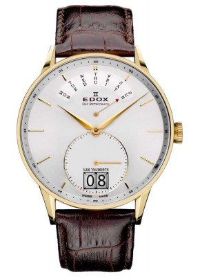 Edox Les Vauberts Day Retrograde Big Date 34005 37JA AID watch picture