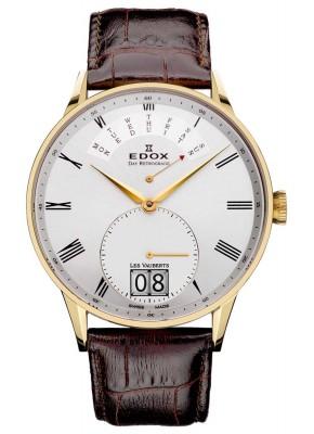 Edox Les Vauberts Day Retrograde Big Date 34005 37JA AR watch picture