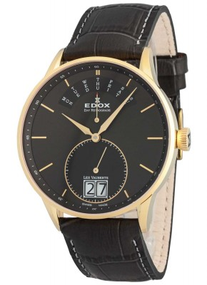 Edox Les Vauberts Day Retrograde Big Date 34005 37JG GID watch picture