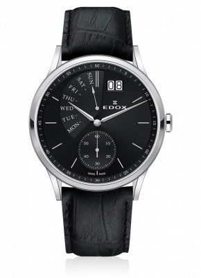 Edox Les Vauberts Day Retrograde Grossdatum 34500 3 NIN watch picture