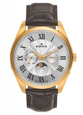 Edox Les Vauberts DayDate Mondphase 40008 37J ARD watch picture