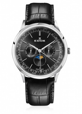 Edox Les Vauberts Moon Phase Complication 40101 3C NIN watch picture