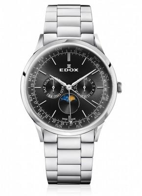 Edox Les Vauberts Moon Phase Complication 40101 3M NIN watch picture