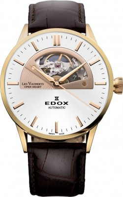 Edox Les Vauberts Open Heart Automatic 85014 37R AIR watch picture