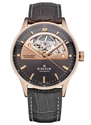 Edox Les Vauberts Open Heart Automatic 85019 37RG GIR watch picture