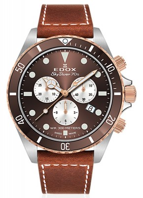 Edox SkyDiver 70s Chronograph Date Quarz 10238 357RBRC BRIA watch picture