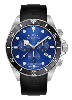 Edox SkyDiver 70s Chronograph Date Quarz 10238 3NCA BUI watch picture