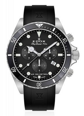 Edox SkyDiver 70s Chronograph Date Quarz 10238 3NCA NI watch picture