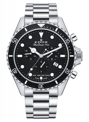 Edox SkyDiver 70s Chronograph Date Quarz 10238 3NM NI watch picture