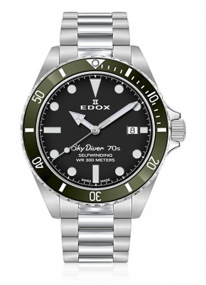 Edox SkyDiver 70s Date Automatic 80115 3VM NN watch picture