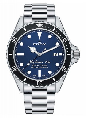 Edox SkyDiver 70s Date Date Automatic 80112 3NM BUI watch picture