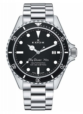 Edox SkyDiver 70s Date Date Automatic 80112 3NM NI watch picture