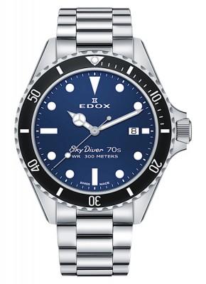 Edox SkyDiver 70s Date Date Quarz 53017 3NM BUI watch picture